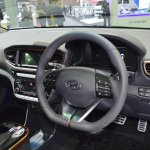 Hyundai Ioniq electric dashboard at 2017 Thai Motor Expo