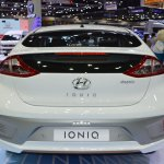 Hyundai Ioniq electric rear at 2017 Thai Motor Expo