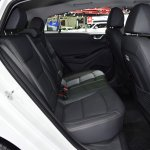 Hyundai Ioniq electric rear seats at 2017 Thai Motor Expo