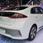 Hyundai Ioniq electric rear three quarters at 2017 Thai Motor Expo