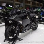 Kawasaki Ninja 400 Black front left quarter at 2017 Thai Motor Expo