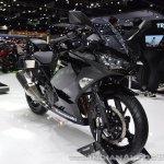 Kawasaki Ninja 400 Black front right quarter at 2017 Thai Motor Expo