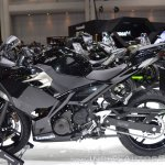 Kawasaki Ninja 400 Black left side at 2017 Thai Motor Expo