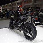 Kawasaki Ninja 400 Black rear left quarter at 2017 Thai Motor Expo