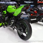 Kawasaki Ninja 400 KRT Edition rear left quarter at 2017 Thai Motor Expo