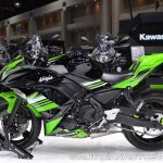 Kawasaki Ninja 650 KRT Edition left side at 2017 Thai Motor Expo