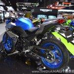 Kawasaki Z300 ABS rear left quarter at 2017 Thai Motor Expo