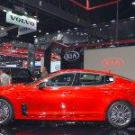 Kia Stinger profile at 2017 Thai Motor Expo