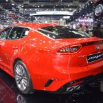 Kia Stinger rear three quarters at 2017 Thai Motor Expo