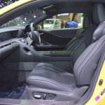 Lexus LC 500 front seats passenger side view at 2017 Thai Motor Expo