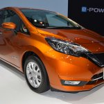 Nissan Note e-Power front three quarters at 2017 Thai Motor Expo - Live.JPG