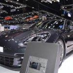 Porsche Panamera 4 e-hybrid Sport Turismo front three quarters at 2017 Thai Motor Expo