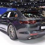 Porsche Panamera 4 e-hybrid Sport Turismo rear three quarters at 2017 Thai Motor Expo