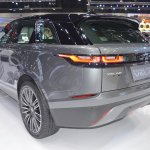 Range Rover Velar rear three quarters left side at 2017 Thai Motor Expo
