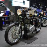Royal Enfield Classic 500 Bobber front left quarter at 2017 Thai Motor Expo