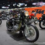 Royal Enfield Classic 500 Bobber front right quarter at 2017 Thai Motor Expo