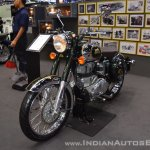 Royal Enfield Classic 500 Chrome front left quarter at 2017 Thai Motor Expo