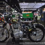 Royal Enfield Classic 500 Chrome left side at 2017 Thai Motor Expo