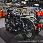 Royal Enfield Classic 500 Stealth Black rear left quarter at 2017 Thai Motor Expo