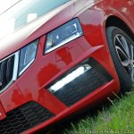 Skoda Octavia RS review test drive LED fog lamp