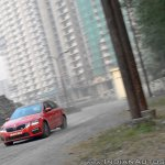 Skoda Octavia RS review test drive action shot front