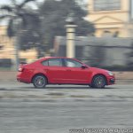 Skoda Octavia RS review test drive action shot side view