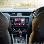 Skoda Octavia RS review test drive centre console