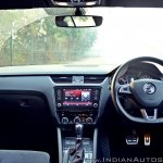 Skoda Octavia RS review test drive dashboard
