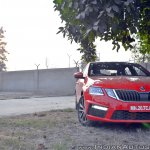 Skoda Octavia RS review test drive front angle view