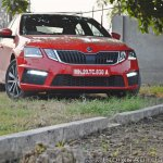 Skoda Octavia RS review test drive front anlge