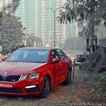 Skoda Octavia RS review test drive front three quarters view