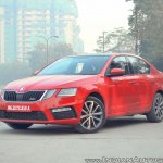 Skoda Octavia RS review test drive front three quarters