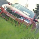 Skoda Octavia RS review test drive front view angle shot