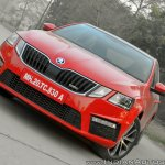 Skoda Octavia RS review test drive front view angle