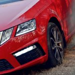 Skoda Octavia RS review test drive headlamp and fog lamp