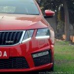 Skoda Octavia RS review test drive headlamp