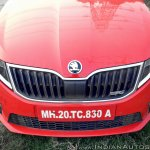 Skoda Octavia RS review test drive nose