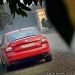 Skoda Octavia RS review test drive rear far