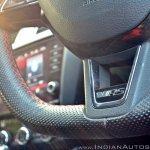 Skoda Octavia RS review test drive steering wheel