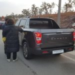 SsangYong Rexton Sports (Q200) rear three quarters spy shot