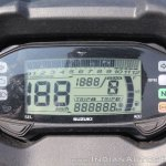 Suzuki Gixxer SF SP FI ABS review instrument cluster