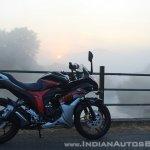 Suzuki Gixxer SF SP FI ABS review right side fog shot