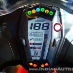 TVS Apache RR 310 Red India launch Instrument cluster