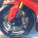 TVS Apache RR 310 Red India launch front brake