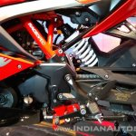 TVS Apache RR 310 Red India launch rear monoshock