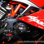 TVS Apache RR 310 Red India launch right side engine