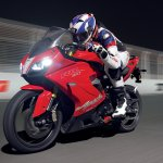 TVS Apache RR 310 action shot