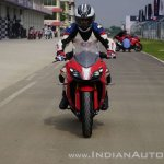 TVS Apache RR 310 first ride review action front shot
