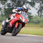 TVS Apache RR 310 first ride review action front