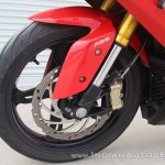 TVS Apache RR 310 first ride review front brake